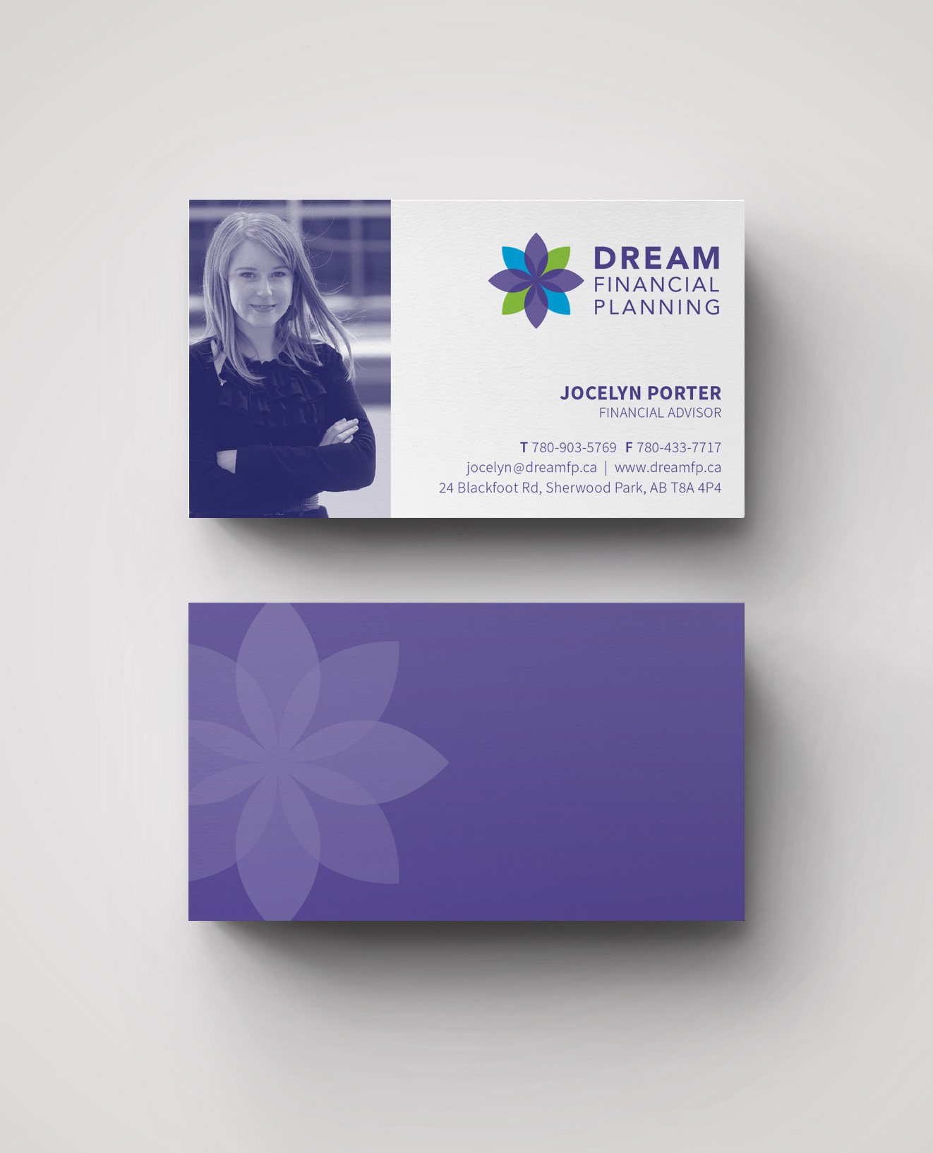 Dream Financial Planning – Business Card Front and Back