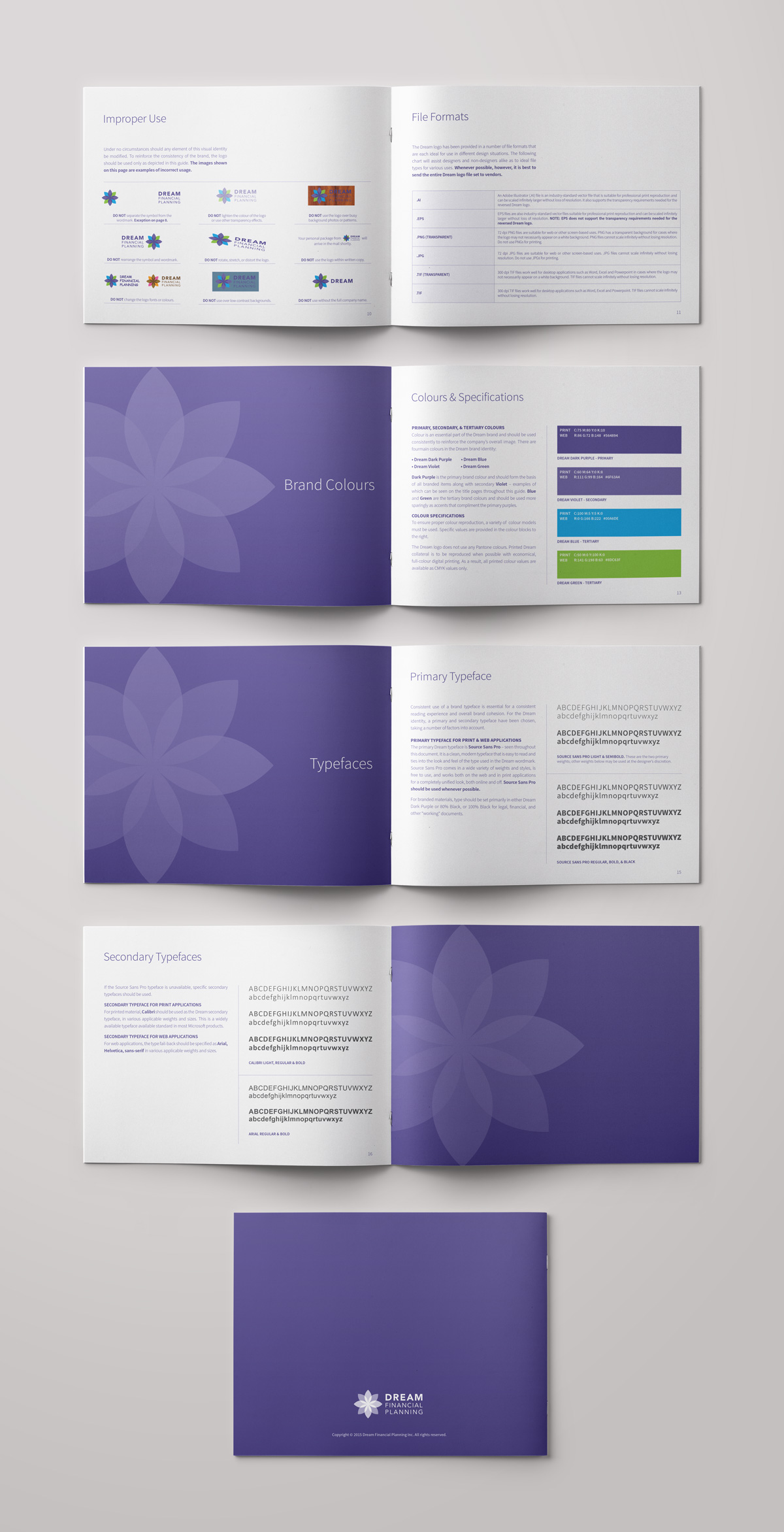 Dream Financial Planning – Visual Identity Guide Part 2